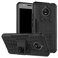 Outdoor odolný obal 2v1 pre mobil Lenovo Moto E4 Plus - čierný