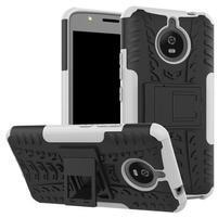 Outdoor odolný obal 2v1 pre mobil Lenovo Moto E4 Plus - bielý