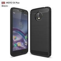 Carbon odolný obal pre mobil Lenovo Moto E4 Plus - čierny