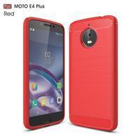 Carbon odolný obal pre mobil Lenovo Moto E4 Plus - červený
