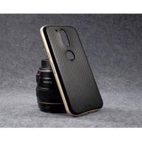 Hybridný 2v1 odolný obal na Lenovo Moto G4 a G4 Plus - zlatý