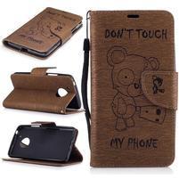 BadBeer peňaženkové puzdro pre mobil Lenovo Moto G5 - hnedé