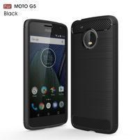 Odolný gélový obal pre mobil Lenovo Moto G5 - čierny