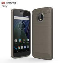Odolný gélový obal pre mobil Lenovo Moto G5 - šedý