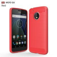Odolný gélový obal pre mobil Lenovo Moto G5 - červený