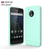 Odolný gélový obal pre mobil Lenovo Moto G5 - azúrový