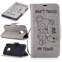 BadBeer peňaženkové puzdro pre mobil Lenovo Moto G5 - šedé