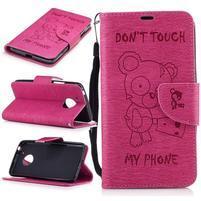 BadBeer peňaženkové puzdro pre mobil Lenovo Moto G5 - rose
