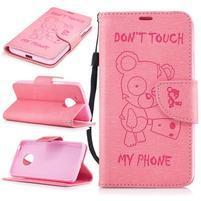 BadBeer peňaženkové puzdro pre mobil Lenovo Moto G5 - ružové
