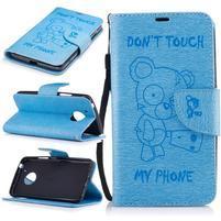 BadBeer peňaženkové puzdro pre mobil Lenovo Moto G5 - svetlomodré