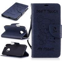 BadBeer peňaženkové puzdro pre mobil Lenovo Moto G5 - tmavomodré