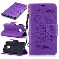BadBeer peňaženkové puzdro pre mobil Lenovo Moto G5 - fialové