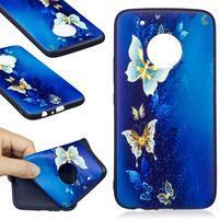 Patty gélový obal na Lenovo Moto G5 Plus - modré motýle
