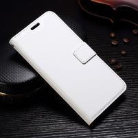 Wallet PU kožené knižkové puzdro na Lenovo Moto G5s - biele