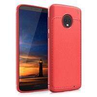 IVS textúrovaný odolný gélový obal na Lenovo Moto G6 Plus - červený