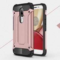 Armory gélový obal pre mobil Lenovo Moto M - ružovozlatý
