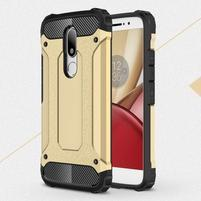 Armory gélový obal pre mobil Lenovo Moto M - zlatý