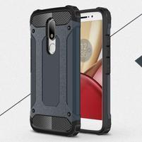 Armory gélový obal pre mobil Lenovo Moto M - tmavomodrý
