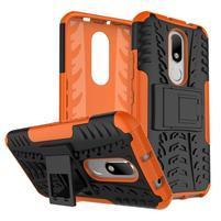 Outdoor odolný obal pre mobil Lenovo Moto M - oranžový