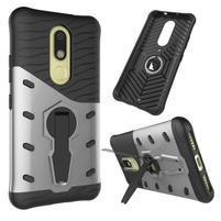 Defender odolný obal 2v1 pre mobil Lenovo Moto M - strieborný