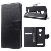 Horse peňaženkové puzdro pre mobil Moto Z Play - čierne