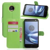 Graines PU kožené puzdro pre Moto Z Play - zelené