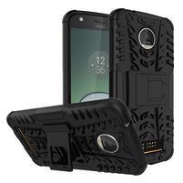 Outdoor odolný obal pre mobil Moto Z Play - čierný