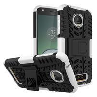 Outdoor odolný obal pre mobil Moto Z Play - biely
