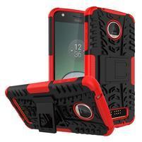 Outdoor odolný obal pre mobil Moto Z Play - červený
