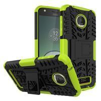 Outdoor odolný obal pre mobil Moto Z Play - zelený