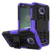 Outdoor odolný obal pre mobil Moto Z Play - fialový
