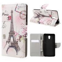 Emotive peňaženkové puzdro pre mobil Lenovo P2 - Eiffelova veža