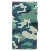Emotive peňaženkové puzdro pre mobil Lenovo P2 - kamufláž