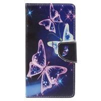 Emotive peňaženkové puzdro pre mobil Lenovo P2 - kouzelní motýľci