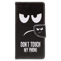Emotive peňaženkové puzdro pre mobil Lenovo P2 - nesahat