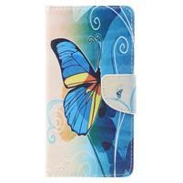 Emotive peňaženkové puzdro pre mobil Lenovo P2 - motýľek
