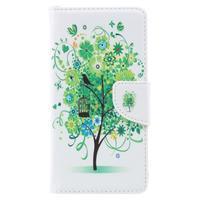 Emotive peňaženkové puzdro pre mobil Lenovo P2 - zelený strom