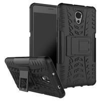 Outdoor odolný obal 2v1 pre mobil Lenovo P2 - čierny
