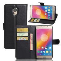 Grianes PU kožené puzdro pre mobil Lenovo P2 - čierné