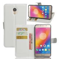 Grianes PU kožené puzdro pre mobil Lenovo P2 - biele