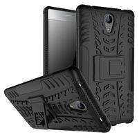 Outdoor odolný obal pre mobil Lenovo Phab 2 - čierný