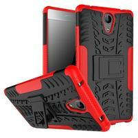 Outdoor odolný obal pre mobil Lenovo Phab 2 - červený