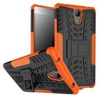 Outdoor odolný obal pre mobil Lenovo Phab 2 - oranžový