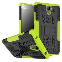 Outdoor odolný obal pre mobil Lenovo Phab 2 - zelený