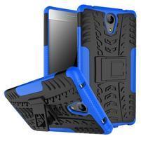 Outdoor odolný obal pre mobil Lenovo Phab 2 - modrý