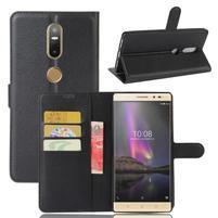 Graines PU kožené puzdro pre mobil Lenovo Phab 2 Plus - čierne