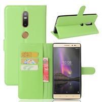 Graines PU kožené puzdro pre mobil Lenovo Phab 2 Plus - zelené