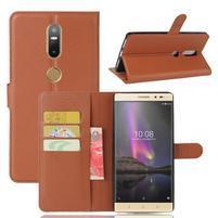 Graines PU kožené puzdro pre mobil Lenovo Phab 2 Plus - hnedé