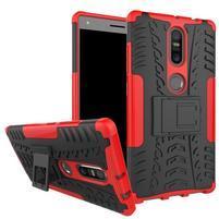 Outdoor odolný obal pre mobil Lenovo Phab 2 Plus - červený