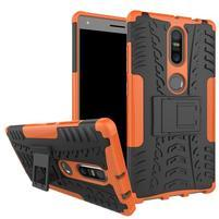 Outdoor odolný obal pre mobil Lenovo Phab 2 Plus - oranžový
